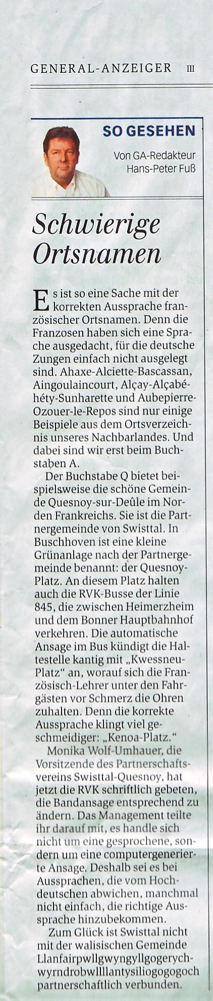 Quelle: Genera Anzeiger Bonn vom 07.12.2016
